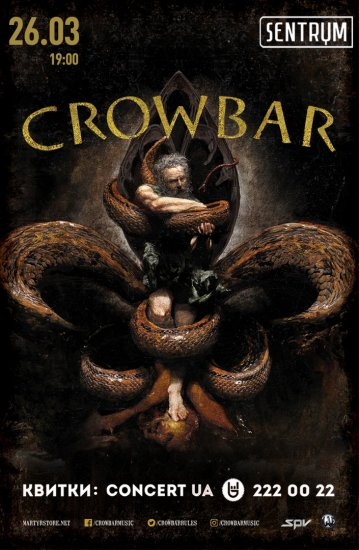 Crowbar / 26.03.2017 / Sentrum