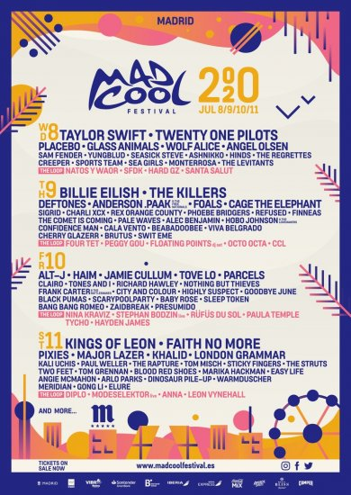 Mad Cool Festival 2020 / 08-11.07.2020 / Madrid